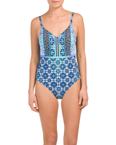 Collage One-piece Swimsuit