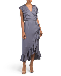 Australian Designed Luxe Ruffle Wrap Dress