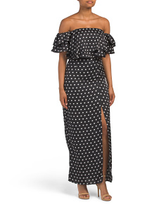 Juniors Polka Dot Maxi Dress