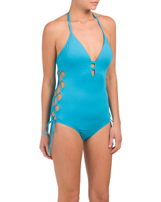 Side Cut Out One-piece Swimsuit