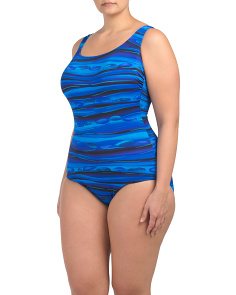 Plus Oasis Lattice Back One Piece Swimsuit