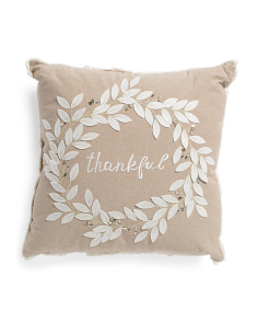 20x20 Thankful Wreath Pillow