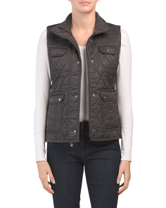 Petite Quilted Faux Down Vest
