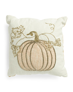 20x20 Blush Elegant Pumpkin Pillow