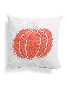 20x20 Knit Pumpkin Pillow