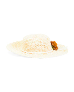 Made In Italy  Flower Floppy Hat