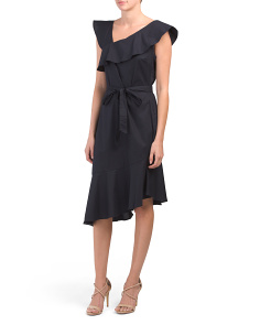 Poplin Asymmetrical Dress
