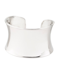 Sterling Silver Wide Concave Cuff Bracelet