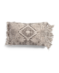 16x24 Slub Print Pillow With Tassels