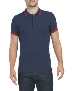 Randy Short Sleeve Polo With Tipping