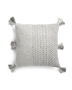 18x18 Textured Hand Woven Pillow