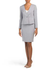 Petite Bi Stretch Skirt Suit