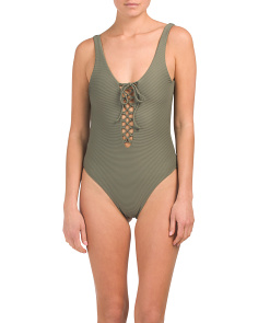 Bridget Lace Up One-piece Swimsuit