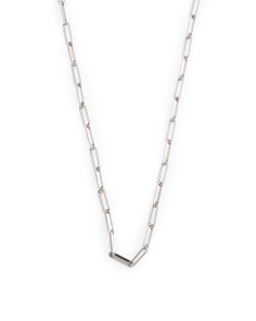 Made In Italy Sterling Silver Long Link Necklace