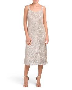 Made In Italy Sequin Midi Dress