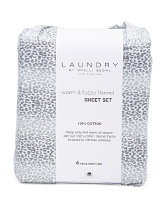 Cotton Leopard Sheet Set