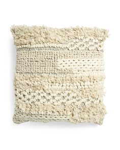 24x24 Woven Loop Textured Pillow