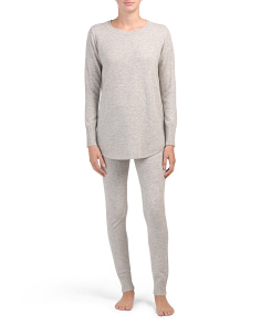 Cashmere Scoop Neck Tunic Lounge Set