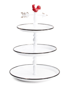 Rooster Metal 3 Tier Tray