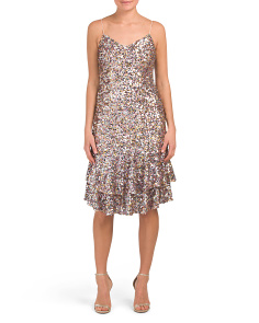 Petite All Over Sequin Dress