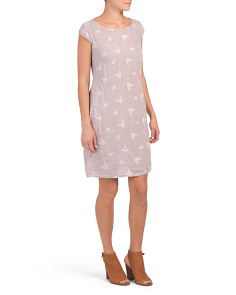 Made In Italy Embroidered Linen Dress