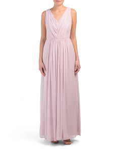 Lux Chiffon V-neck Gown