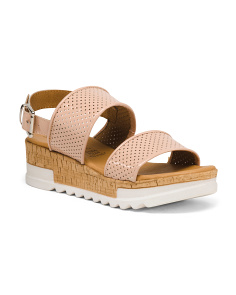 Made In Italy 2 Band Leather Sandals