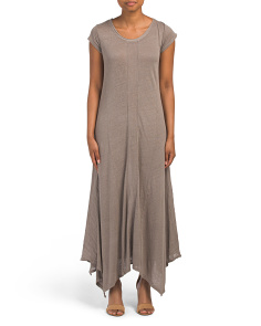 Made In Italy Linen Slub Knit Maxi Dress