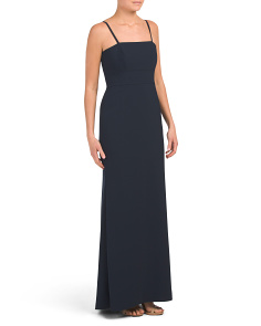 Bow Back Crepe Gown