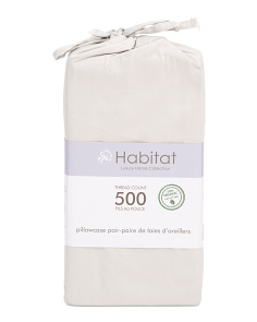 500tc Organic Cotton Pillowcase Set