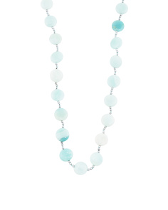 Sterling Silver Amazonite And Hematite Necklace