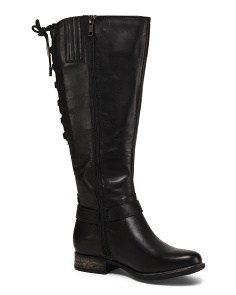 Leather High Shaft Boots