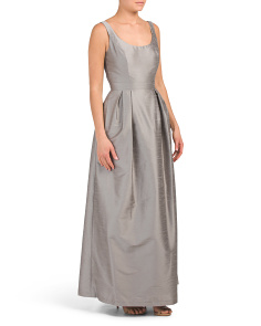 Scoop Neck Long Gown