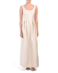 Scoop Neck Long Gown - Not Returnable to Stores