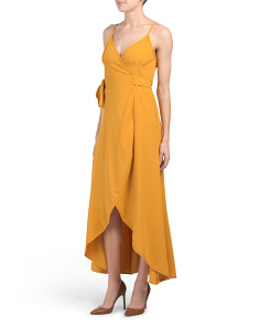 Made In Usa Petite Monica Wrap Maxi Dress