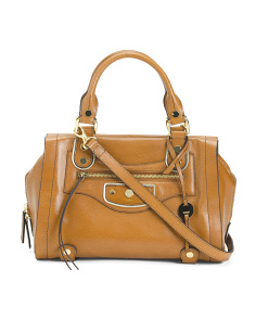 Charlize Leather Tote With Hardware Details