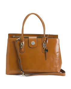 Ally Leather Work Tote