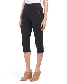 Petite Pull On Sailor Cropped Pants