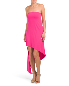 Made In Usa Strapless Asymmetrical Dress
