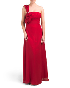Petite One Shoulder Gown
