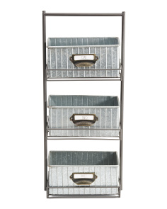 Galvanized Metal Tabletop Caddy