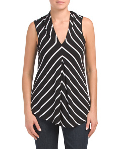 V-neck Tank With Pleat