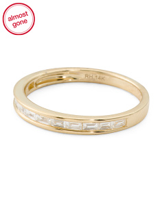 14k Gold And Diamond Baguette Band Ring
