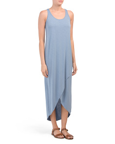Petite Boardwalk Faux Wrap Maxi Dress