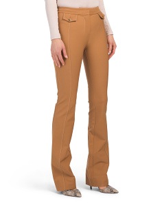 Flare Trousers With Tab Detail