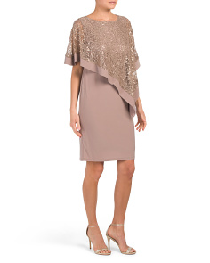 Sequin Capelet Dress