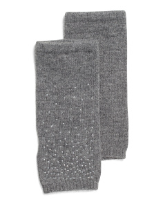 Diamante Cashmere Fingerless Gloves