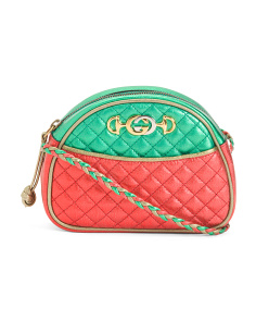 Made In Italy Leather Quilted Mini Bag