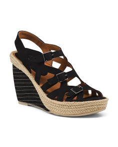 Premium All Day Comfort Leather Wedge Sandals