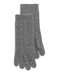 Horseshoe Cable Cashmere Gloves